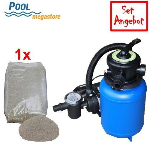 Sandfilteranlage mit 6-Wege top mount Ventil ohne Umwälzpumpe  Schwimmbad Filter