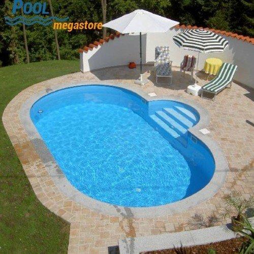 Stahlwandbecken oval 120 cm tief | Pool | Schwimmbad | Schwimmbecken |  Swimmingpool | Schwimmingpool
