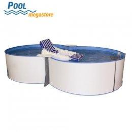 Schwimmbecken beckensets achtform 8 form aufstellbecken for Schwimmbecken oval aufstellbecken