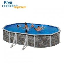 Achteckbecken set oval 120 cm als aufstellbecken for Pool aufstellbecken oval