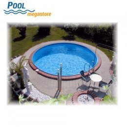 Rundbecken set 120 cm vollversenkt mit poolfolie 0 6 mm for Poolfolie 450x120