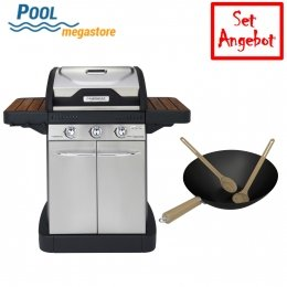 Campingaz Gasgrill Master 3 Series Woody EX - SET