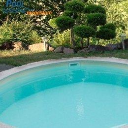 schwimmbadfolie austauschfolie f r rundbecken sandfarben