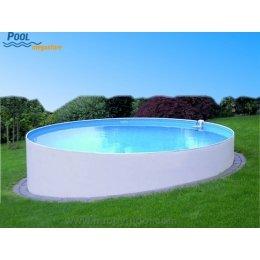 Stahlwandbecken rund 120 cm tief schwimmbad for Poolfolien rundbecken