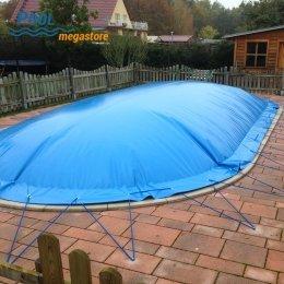 Aufblasbare Winter Schwimmbadabdeckung Fur Ovalbecken 500 X 250 Cm